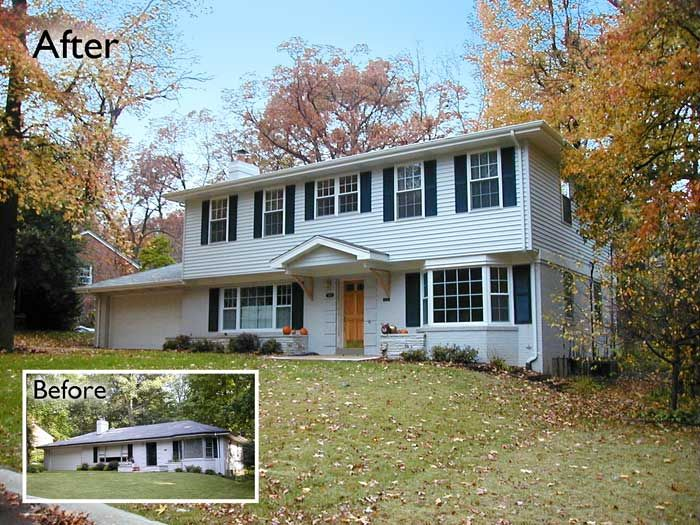 Cost To Remodel A Kitchen: Addition St Louis County Ranch 2 Story Home Second Story