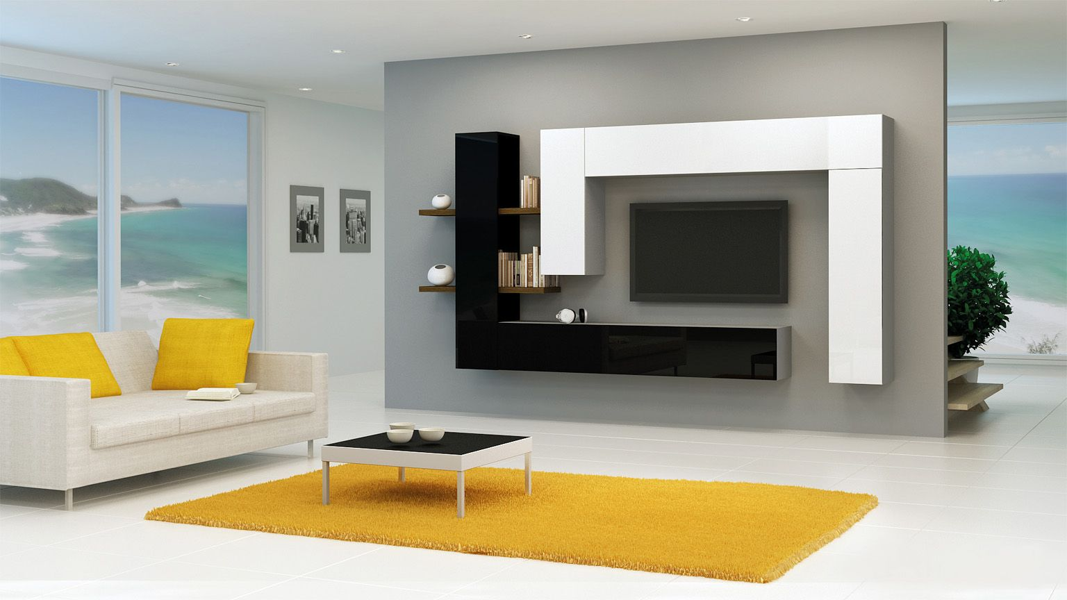 Brin 7 Meuble Tv Haut In 2019 Meubles Tv Moderne Living Room