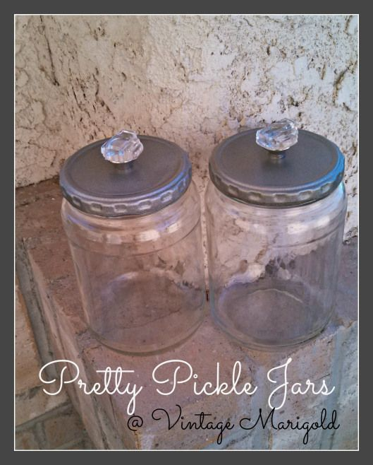 Upcycled Pickle Jars Pickle Jar Crafts Diy Jar Crafts Pickle Jars