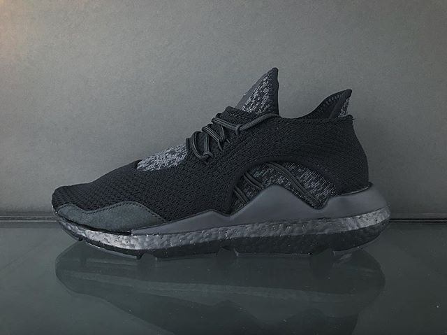 1ee8559d3 The Y-3 Saikou gets the triple black treatment for this execution and also  has a flexible PRIMEKNIT upper and full BOOST sole for unparalleled comfort  and ...
