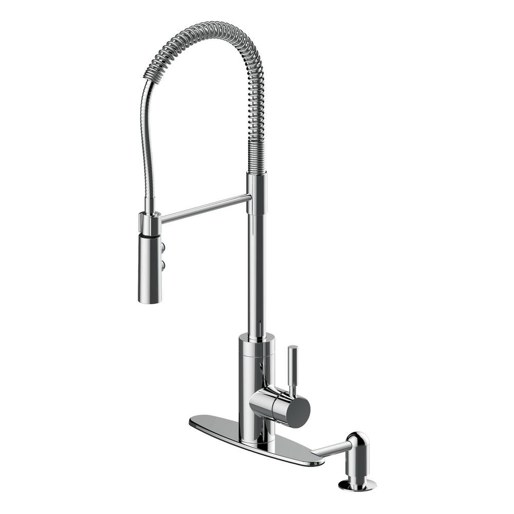 Phenomenal Cahaba Industrial Single Handle Pull Down Sprayer Kitchen Complete Home Design Collection Lindsey Bellcom