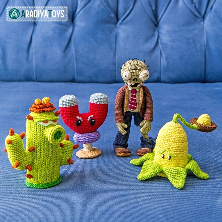 Plants vs zombies pea shooter free crochet pattern | Amigurumi ... | 770x770