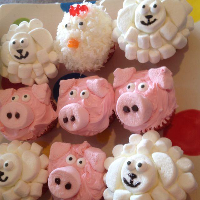 The farm animal cupcakes I did for Noah's 1st birthday ...
