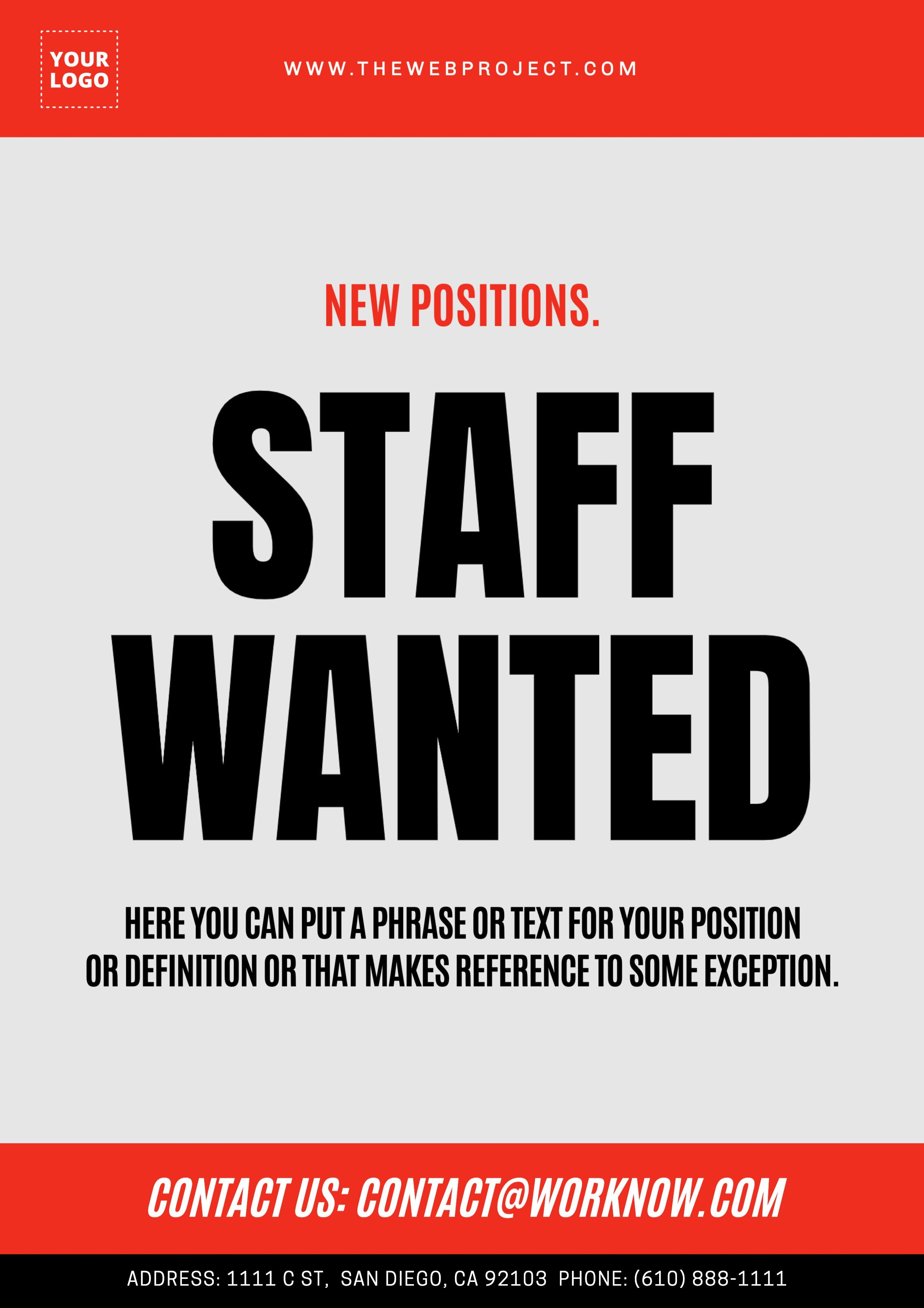 Customizable Staff Wanted Poster To Edit Wanted We Are Hiring Best Templates