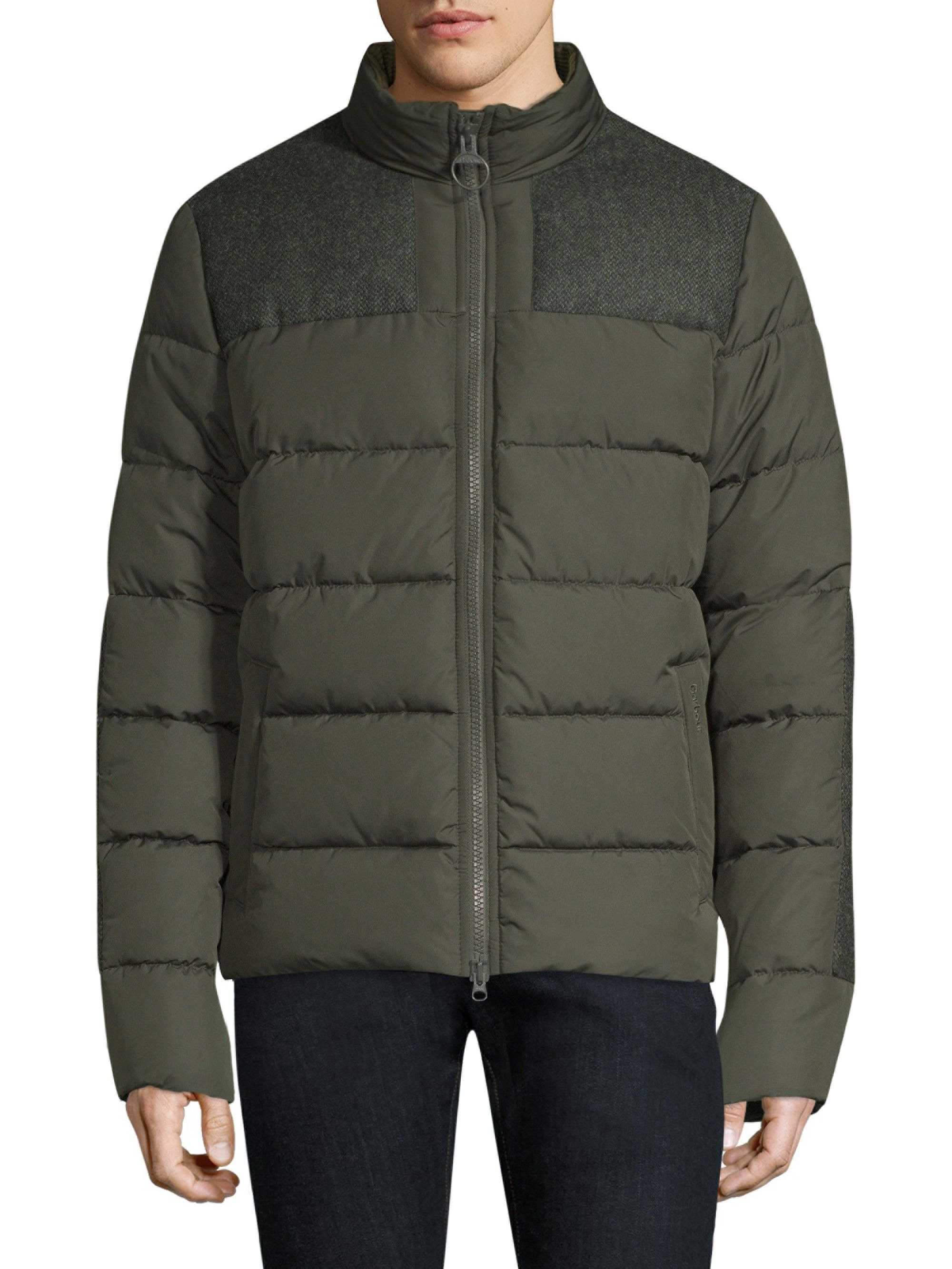 5b09f0013 Barbour Men's Nautical Dhow Quilted Puffer Jacket - Dark Green Xx-Large