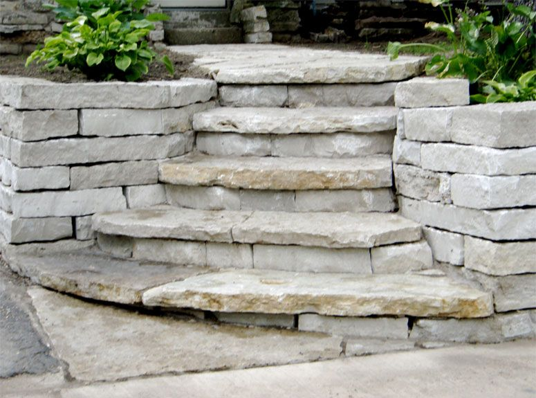 Flagstone stairs garden pinterest flagstone stone for Pictures of stone steps