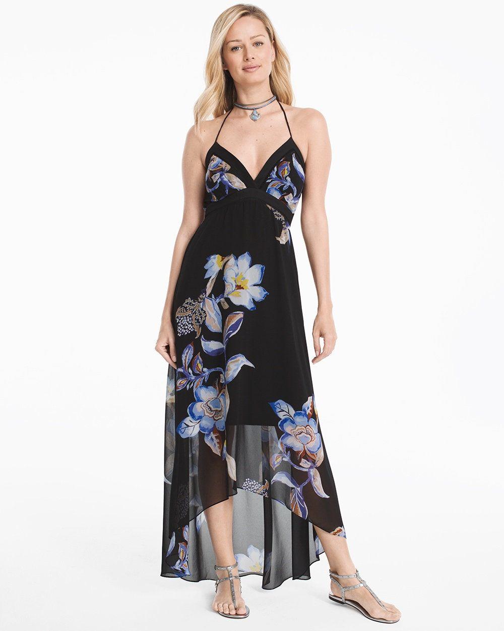 b9697f7b4b7 Floral High-Low Maxi Dress