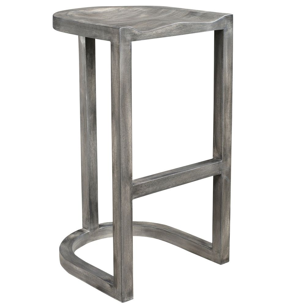 Outstanding Laredo Grey Solid Mango Wood 30 Inch Counter Stool 16 5 Theyellowbook Wood Chair Design Ideas Theyellowbookinfo