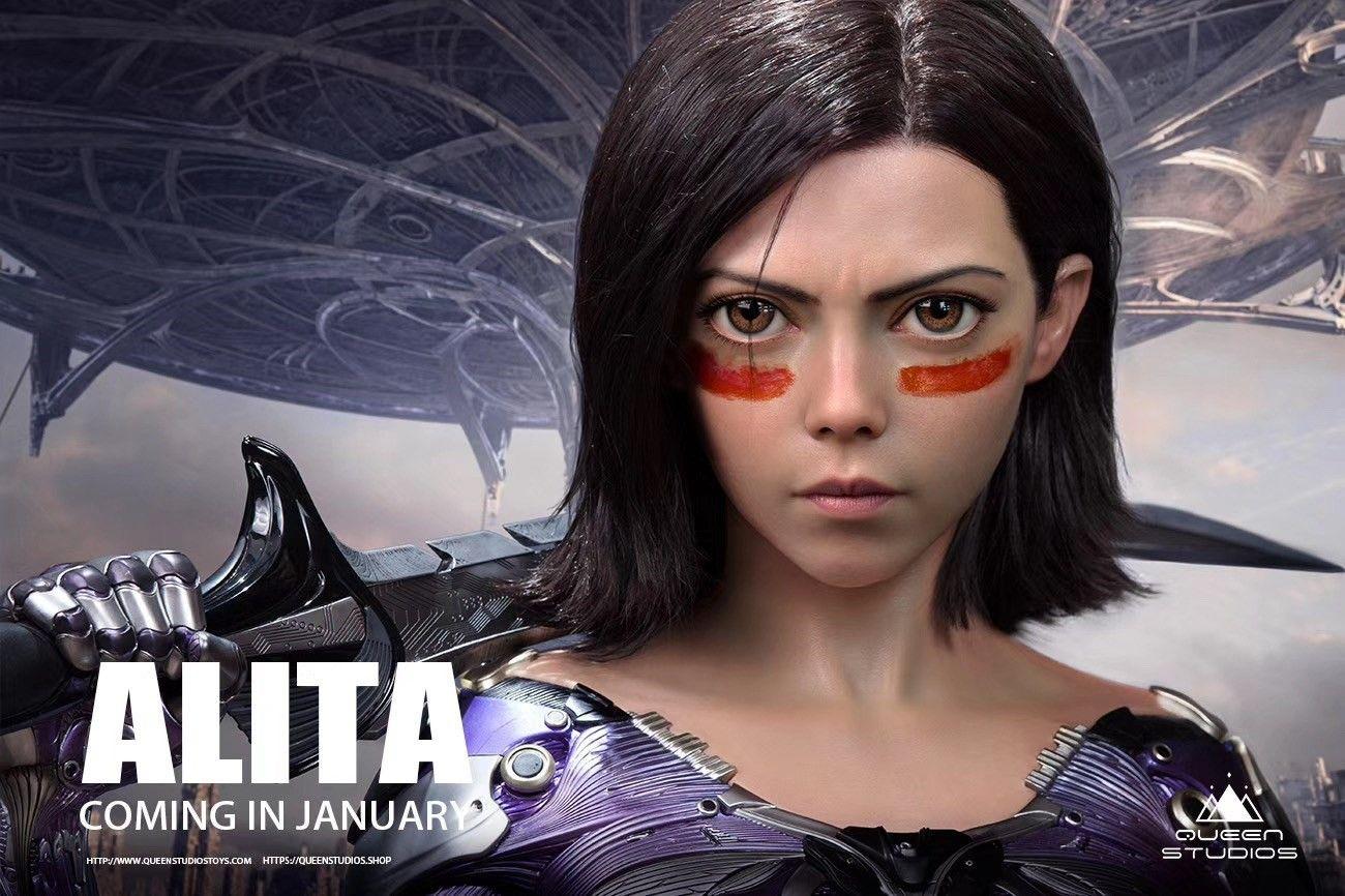 Alita Battle Angel 11 scale bust by Queen Studios in
