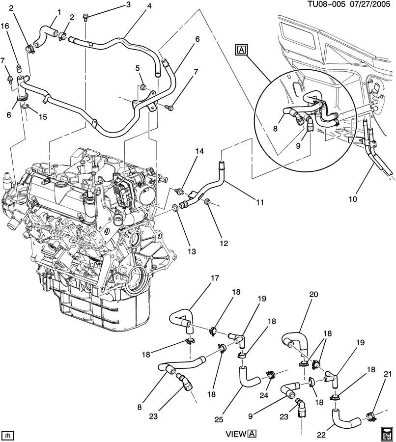 2005 chevy classic engine diagram