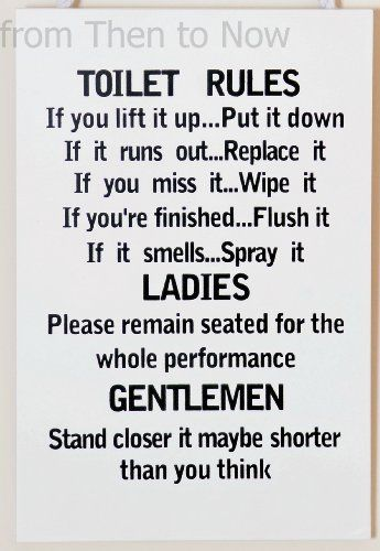 Funny Bathroom Signs Bathroom Rules Sign Wall Art Bathroom Rules Plaque 1