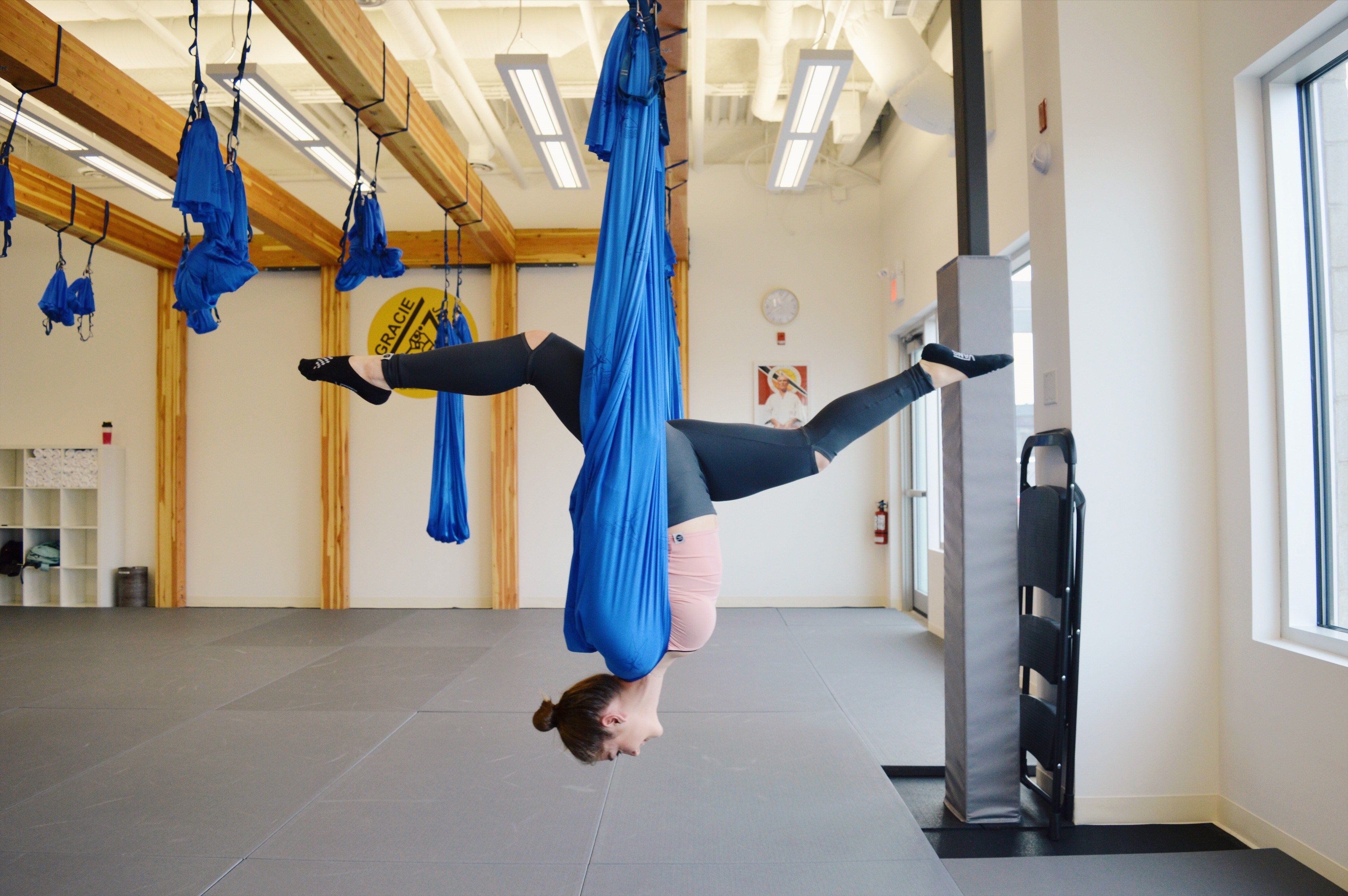 Aerial Yoga At Inflight Fitness Calgary Ab Aerial Yoga Aerial Yoga Classes Fitness