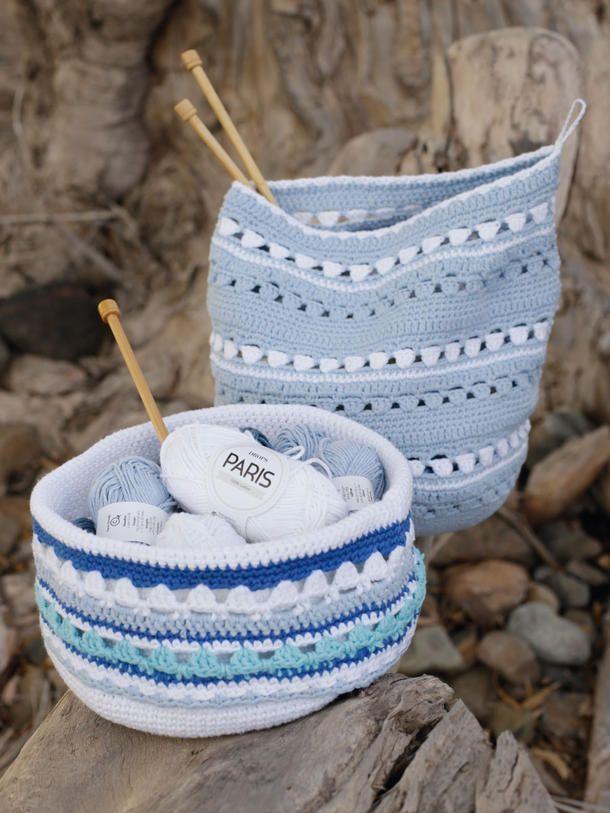 So einfach häkeln Sie diese Aufbewahrungskörbe | Crochet Misc ...