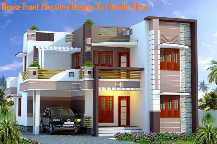 HouseFrontElevationDesignsForDoubleFloorpng 700 466 – Two Floor House Plans And Elevation