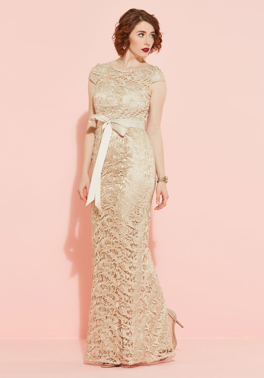Upscale Inspiration Dress in Champagne | wedding style | Pinterest
