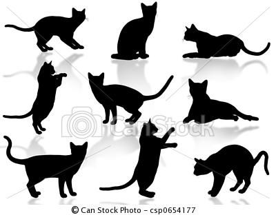 cats silhouette stock photo 3266064  shutterstock  cat