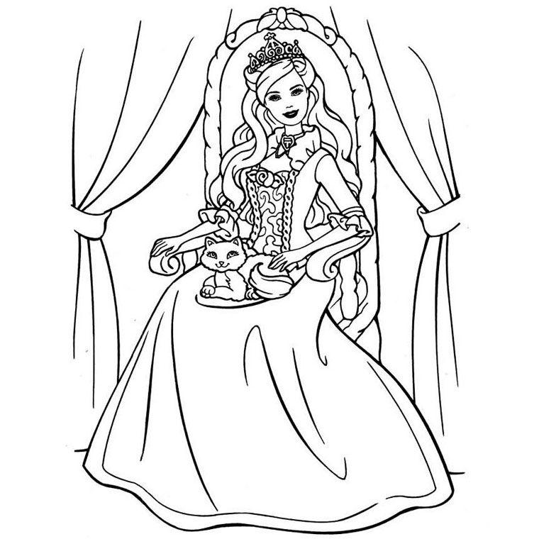 coloriage barbie 12 princesses
