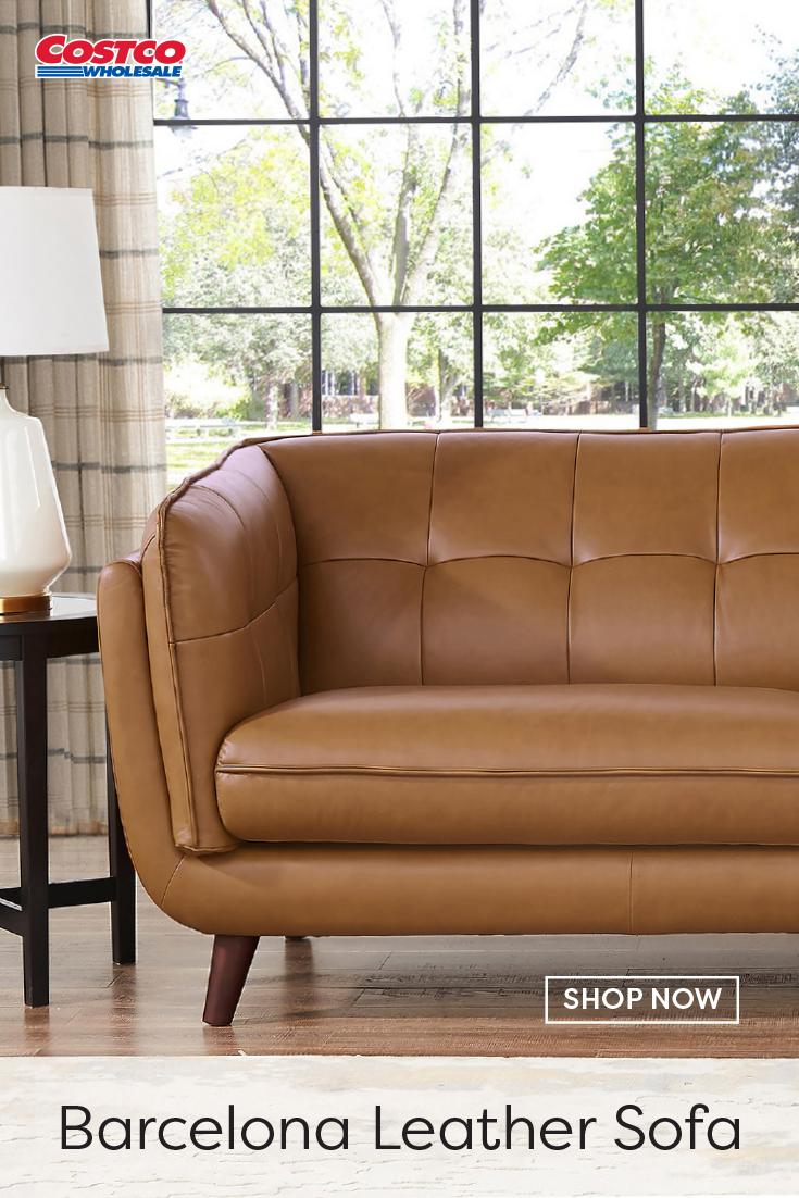 Barcelona Leather Sofa In 2020 Leather Sofa Brown Leather Sofa Sofa Colors