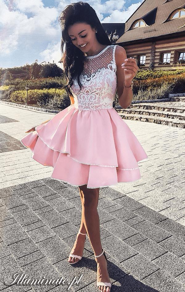 7153107ab3  sukienka  rozkloszowana  wesele  różowa  sukienkanawesele  ślub  piękna   dress  flared  wedding  pink  beautiful  weddingdress