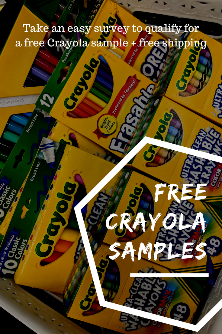 Save On Arts Crafts Supplies With Free Crayola Samples From Get It GetCrafting