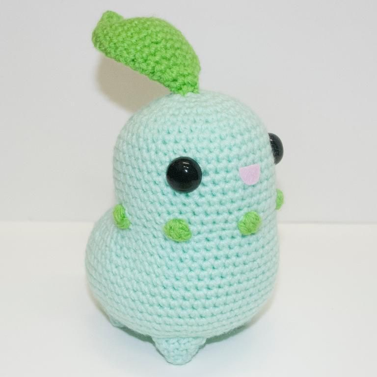 (4) Name: 'Crocheting : Chikorita can buy this for 6.52$ on Craftsy web site.Design by Johnny Navarro