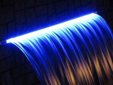 Led Light Strip For Waterfalls Pool Waterfall Waterfall Lights