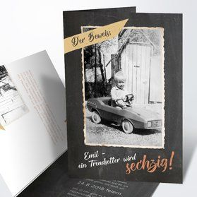 Einladungskarten 60. Geburtstag selbst gestalten