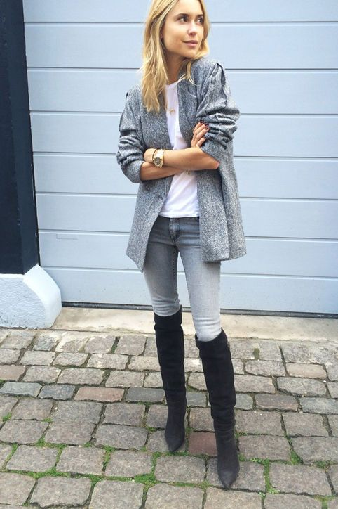 15 Ways to Wear Thigh-High Boots This Winter | High boots, Thigh ...