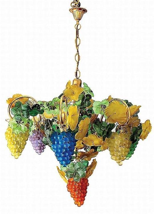 Italian Glass Grapes Chandelier Chandelier Kitchen Decor Rooster Kitchen Decor Home Decor
