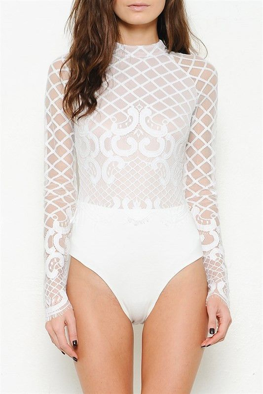 Laced Long Sleeves Bodysuit More Colors Fashion Pinterest