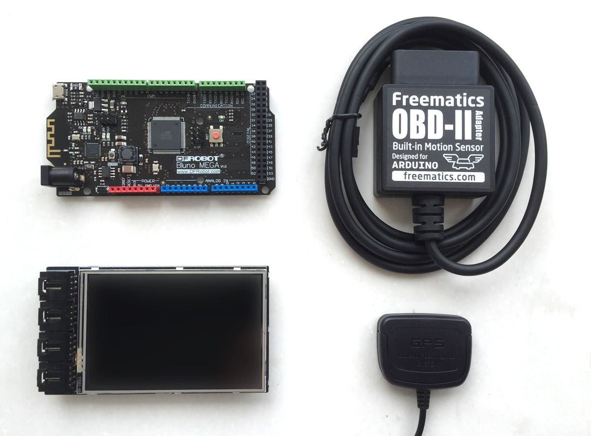 Freematics OBDII Telematics Advanced Kit (Arduino MEGA