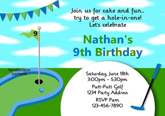 boys golf party invitation mini golf birthday party by jcsaccents