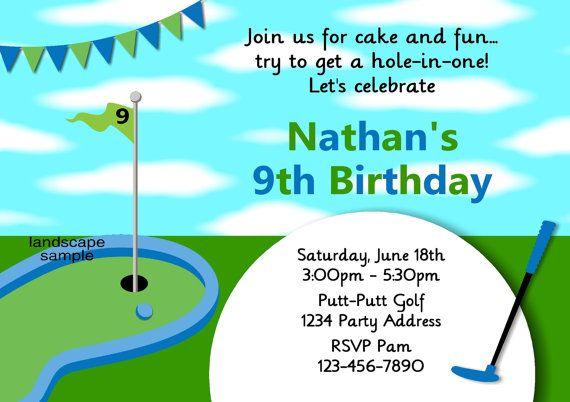 Boys Golf Party Invitation Mini Birthday By Jcsaccents
