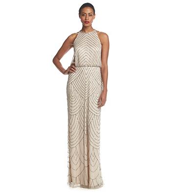 Adrianna Papell® Beaded Gown | Bon-Ton