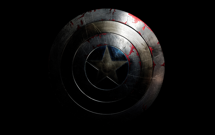 Download Wallpapers Captain America 4k Logo Shield Superheroes Marvel Comics Besthqwallpapers Com Captain America Shield Wallpaper Captain America Wallpaper Captain America