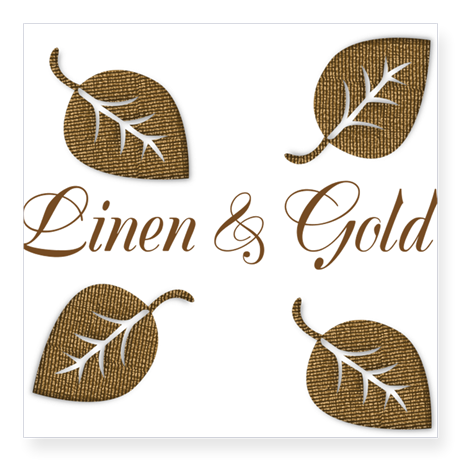 Personalized Golden Leaf Pattern Sticker, editable text, for personalized gifts, decor.