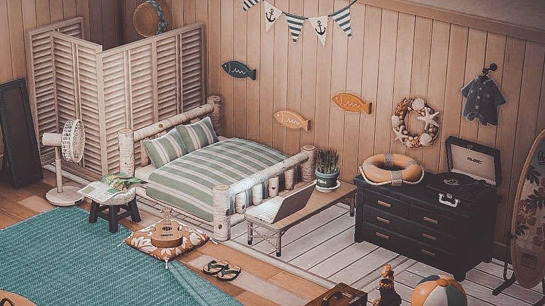 "Animal Crossing New Horizons on Instagram: ""Beach house ... on Animal Crossing Bedroom Ideas New Horizons  id=37813"