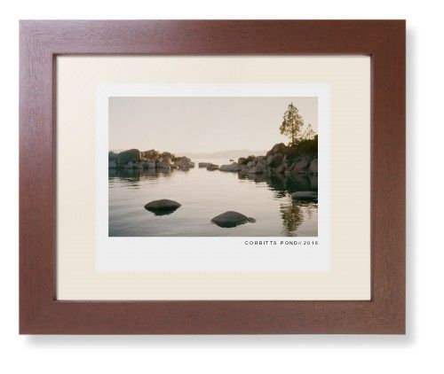 Modern Gallery Framed Print, Brown, Contemporary, White, Cream, Single piece, 8 x 10 inches, White