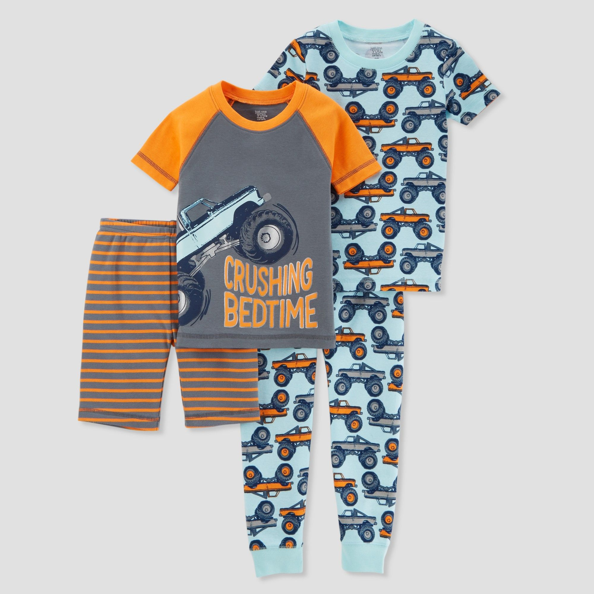 7eab01ad6bc6 Toddler Boys  4pc Crushing Bedtime Pajama Set - Just One You made by ...