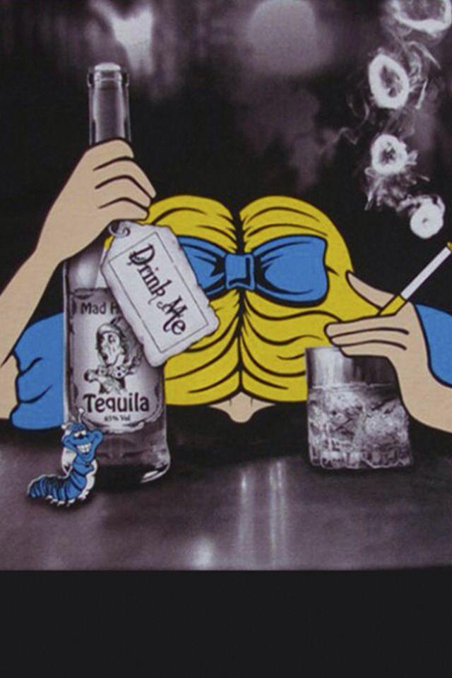 Alice in wonderland drunk-1923