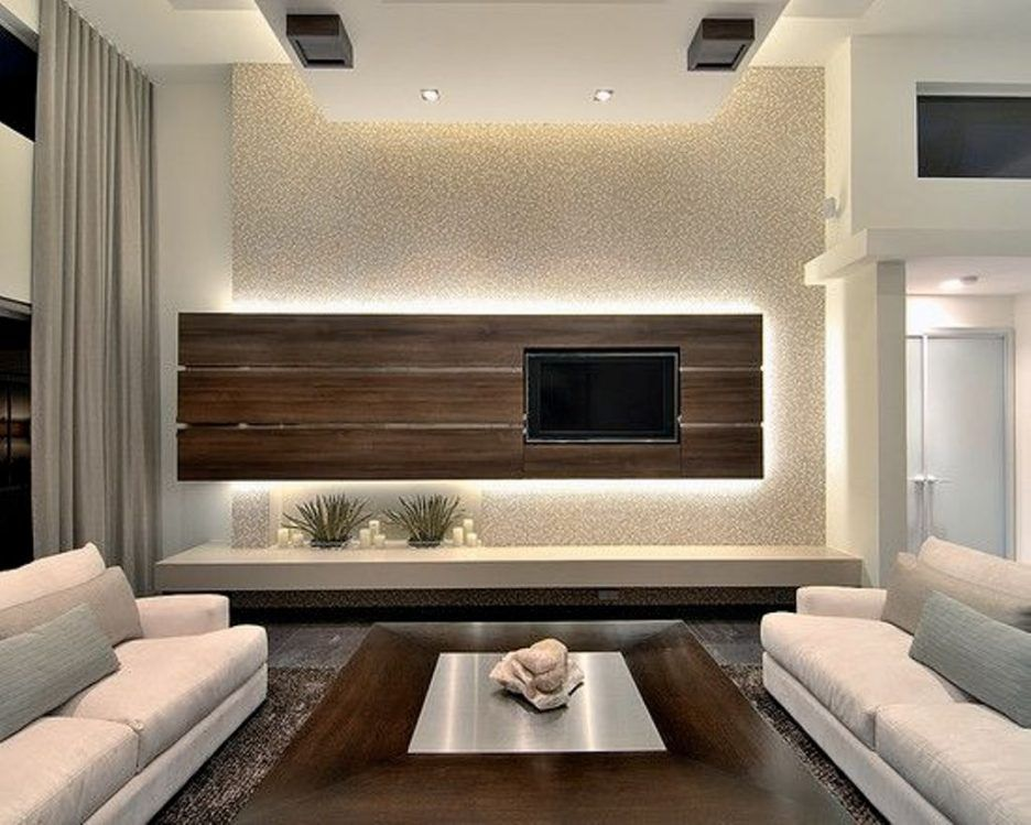 Living Room Amazing Floating Tv Stand Living Room Furniture With Brown Varnished Wood Tv Wal Modern Family Rooms Modern Family Room Design Family Room Design