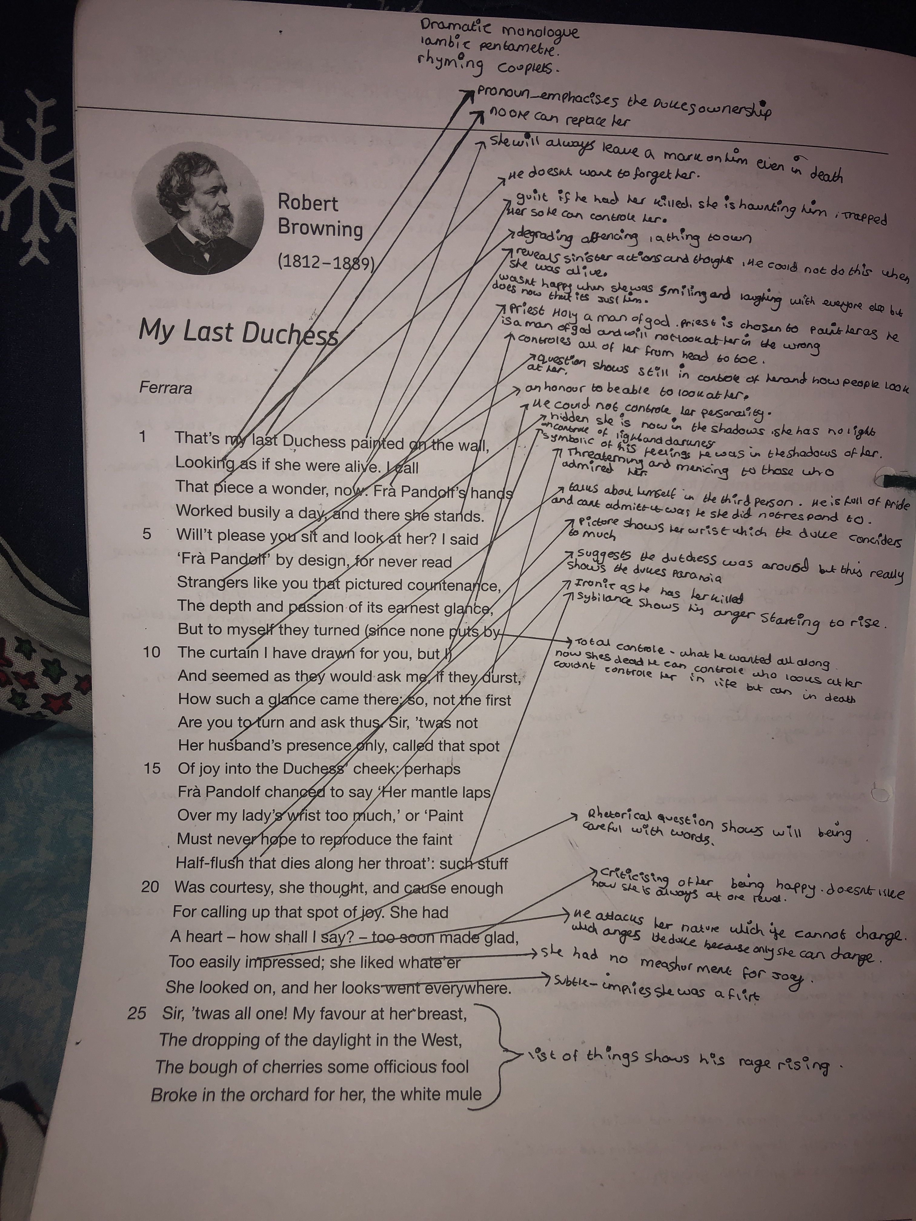 My Last Duches Analysi Part 1 English Literature Classroom Poem Gcse Poems Line By Analysis