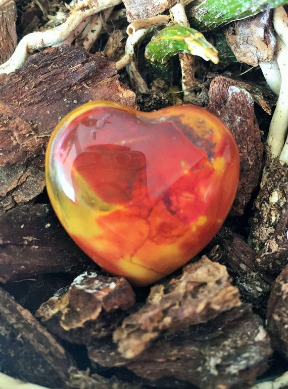 Mookaite Heart infused with Love and Reiki/ by ChakraHealingShop