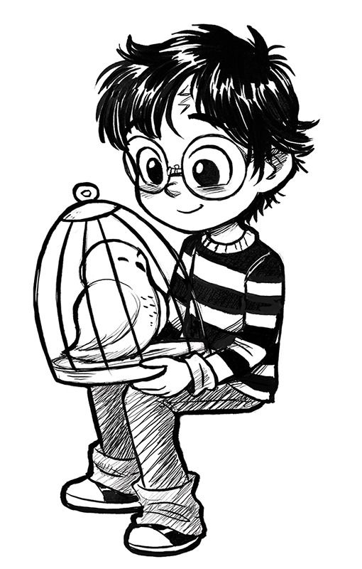 By Courtney Godbey Illustration On Tumblr Harry Potter Artwork