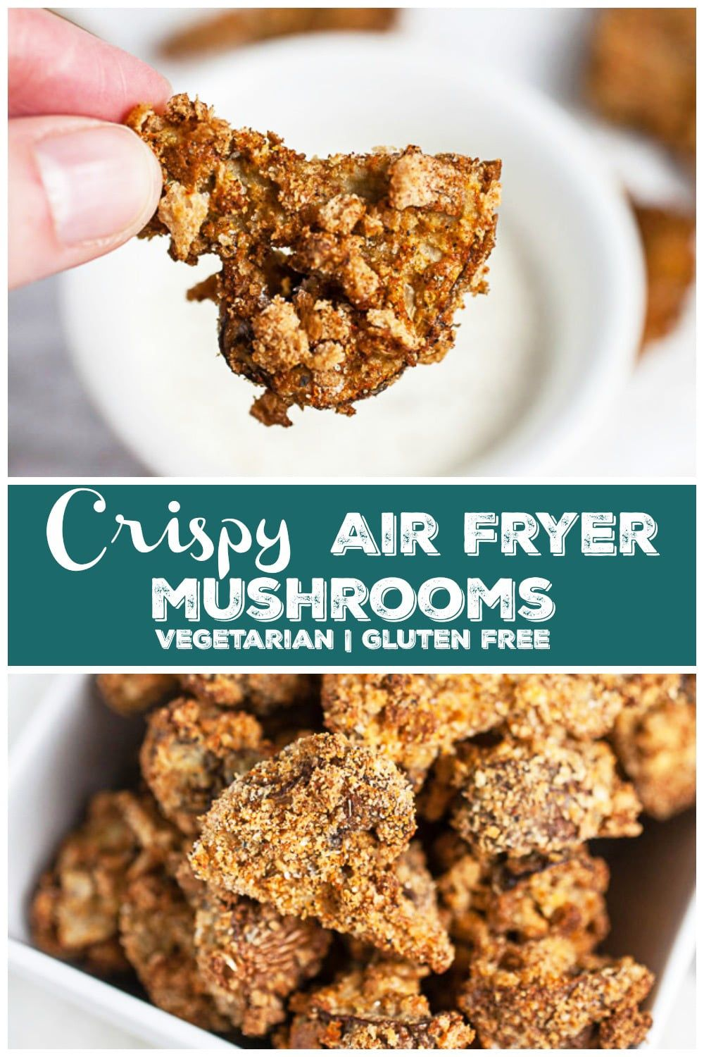 These Crispy Air Fryer Mushrooms are easy to prepare and