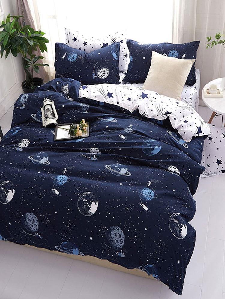 Galaxy Print Duvet Cover Set Duvet Cover Sets Girls Duvet Covers Girls Bedding Sets