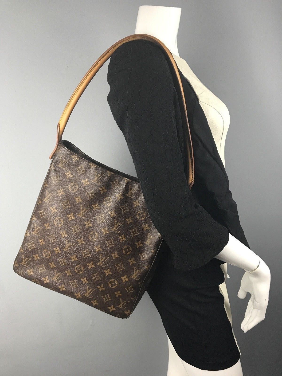 304297e3b8c35 AUTH Louis Vuitton Monogram Looping Gm Shoulder Bag MI0999 France ...
