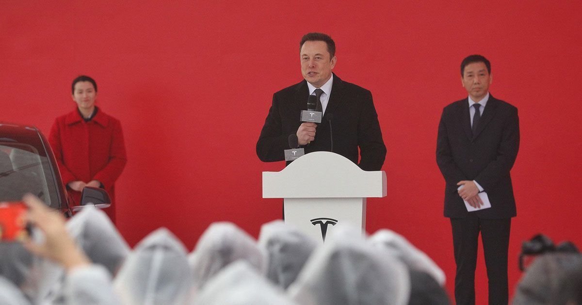 Elon musk celebrates start of shanghai gigafactory
