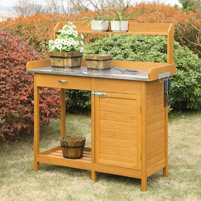 Brilliant Deluxe Potting Bench Garden Outdoor Potting Bench Ibusinesslaw Wood Chair Design Ideas Ibusinesslaworg