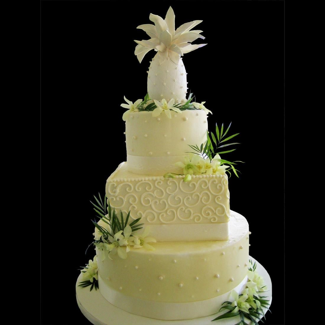 First Tropical Wedding Cakes